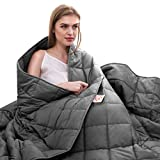 Maple Down Adults Weighted Blanket, 7-Layer Heavy Bed Blankets with Oeko-TEX | 25lbs, 80'' ×87'', King | 100% Cotton Mircro Glass Beads | Dark Gray