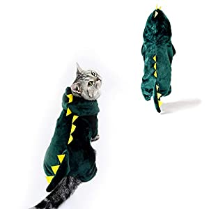 InnoPet Dog Costume Hoodies, Pet Cosplay Hoodies, Dog Warm Apparel,Pet Dinosaur,Christmas Outfits for Dogs,Helloween Dog Cat Outfits, Cute Winter Clothes