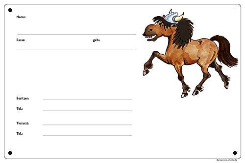 Boxenschild/Stalltafel Wikinger-Pony (Isländer/Islandpferd/Isi) Brauner