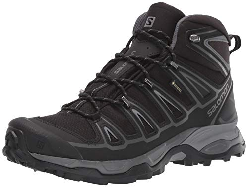 Salomon Men's X Ultra Mid 2 Spikes GTX Snow Boots, Black/Black/Quiet Shade, 10.5