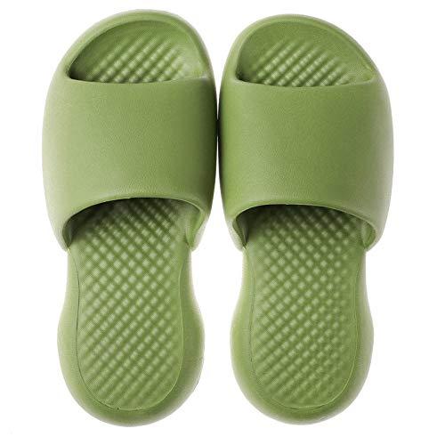 B/H AlAireLibreBañoSandalia,Zapatillasdeplásticodesuelablandaparainteriores,sandaliasdebañoparaelhogar-Verde2_39-40,UnisexparaAdultosBañarsePiscinaSandaliasChanclas
