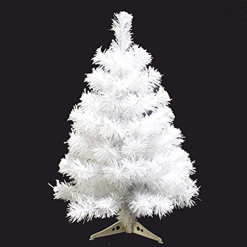 Zinsale 2ft/60cm Pine Artificial Christmas Tree with Tree Stand Quality Plastic Tree Decoration (White)