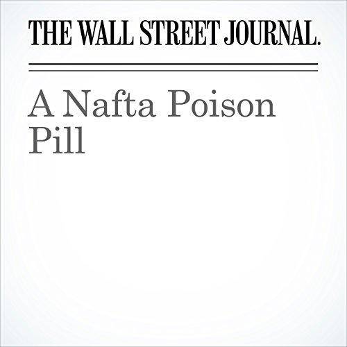 A Nafta Poison Pill copertina