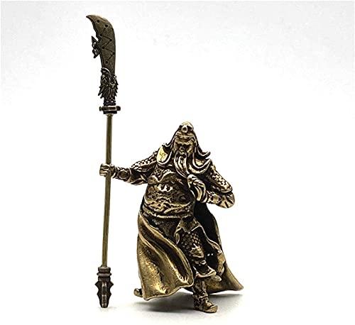 JJDSN Cobre Chino Feng Shui Guan Gong Estatua Dios de la Gue