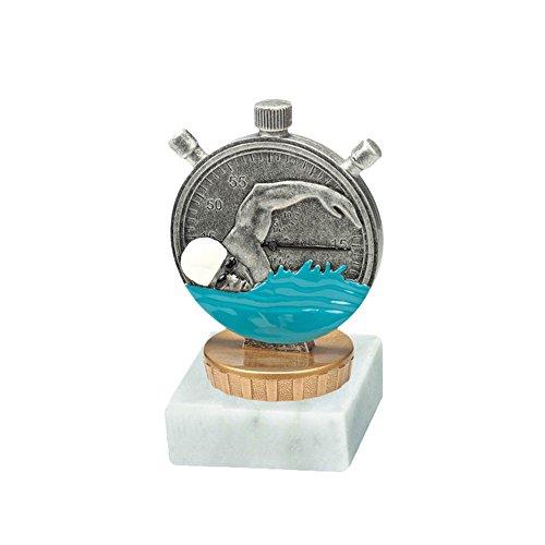 RaRu Schwimmer-Pokal mit Wunschgravur und Resin-Klebefigur