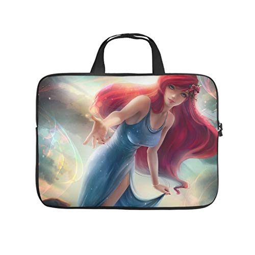 Cartoon Girl Princesses Laptop Computer And Tablet Carrying Case Bag Waterproof Portable Zipper Computer Laptop Sleeve For Business&Travel Lightweight For Men And Women white 15 zoll