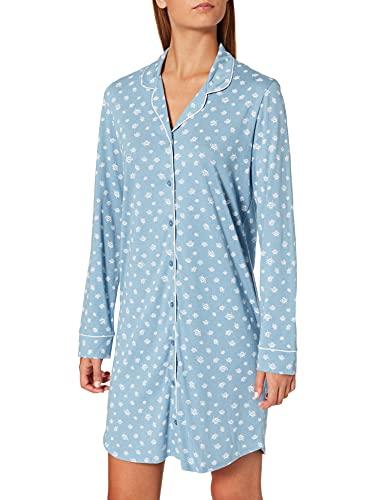 Schiesser Damen 1/1 Arm, 100cm Nachthemd, hellblau, 46