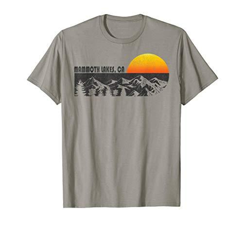Retro Mammoth Lakes California Mountain Sunset T-Shirt