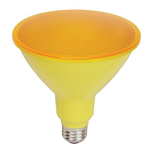 GE LED Bug Light Bulb, PAR38 Outdoor Floodlight, 8-Watt, Medium Base, 4-Pack, Recessed Light Bulb, Yellow Light Bulb, LED Floodlight