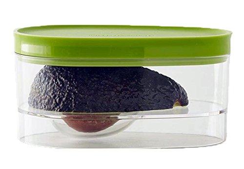 Avocado-Box für Avocado-Vorratsbehälter, kreativ, wiederverwendbar, für Obst und Gemüse, 2 Stück, Grün