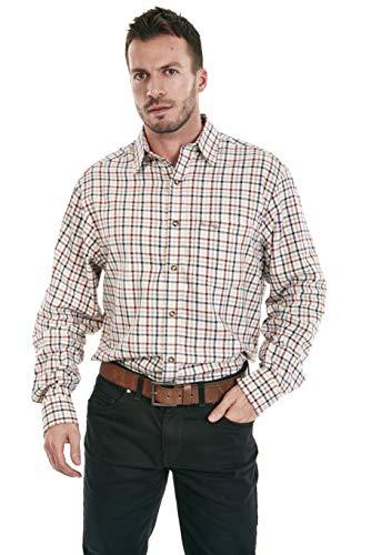 Sherwood Forest Camisa Hombre Horton (, Hombre, Color Burgundy/Blue Check, tamaño XL