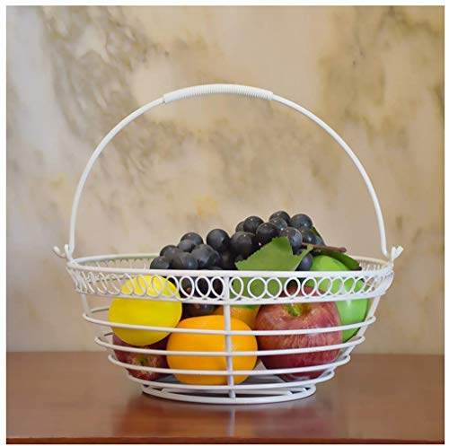 ZHA JIAN Snack-Dip cuencos Vajilla de metal cesta de frutas, Negro Hierro...
