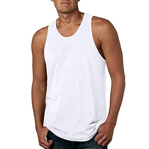 Chaleco Casual de Color Sólido para Hombre Primavera Y Verano Chaleco Sin Mangas con Corte Ajustado Estilo Camiseta Top de Talla Grande