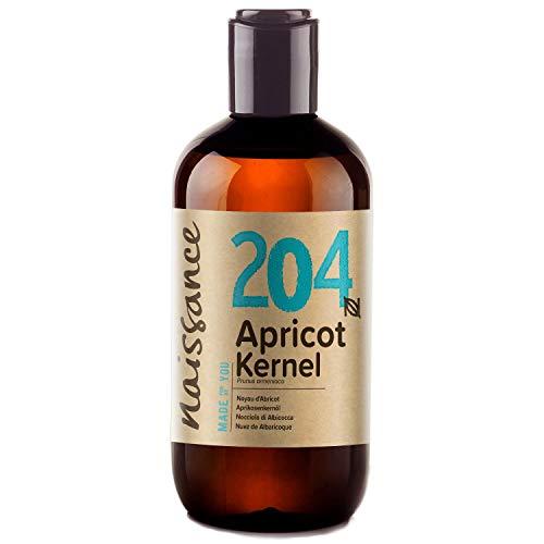 Naissance Aprikosenkernöl (Nr. 204) 250ml - rein, natürlich, vegan, gentechnikfrei - feuchtigkeitsspendend & pflegend