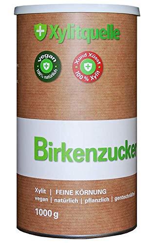 Xylit Birkenzucker 1kg Dose feine Körnung