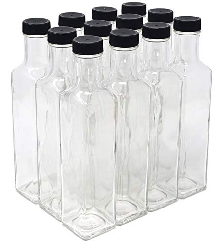 clear glass quadra bottles