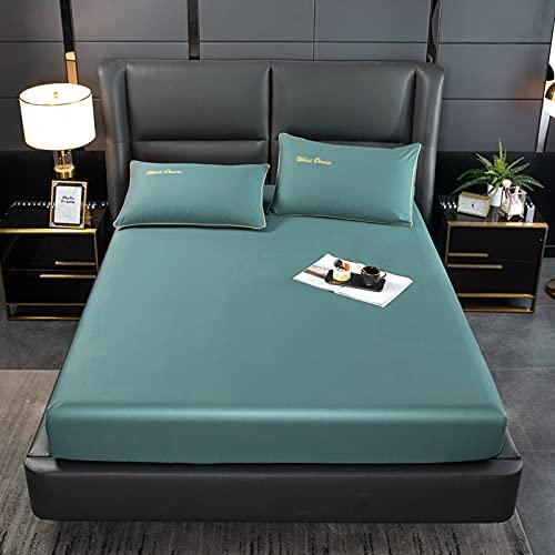 BOLO Sábanas bajeras súper suaves y cómodas de fácil cuidado de polialgodón ropa de cama de lujo hasta esquinas profundas, 150 x 200 cm+28 cm