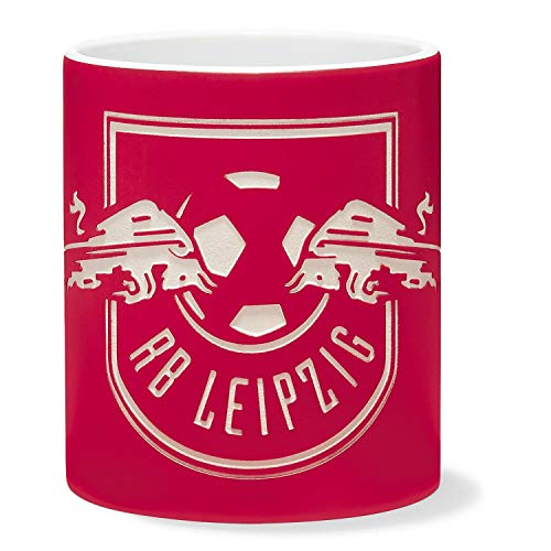 RB Leipzig Sand Crest Tasse, Rot Unisex One Size Becher, RasenBallsport Leipzig Sponsored by Red Bull Original Bekleidung & Merchandise