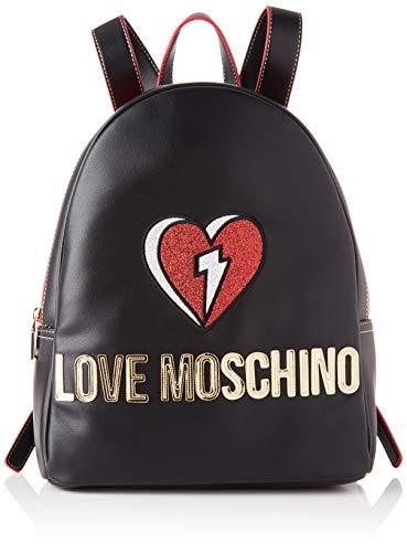 Love Moschino Damen JC4255PP0BKJ0 Rucksack, Schwarz, Einheitsgröße EU