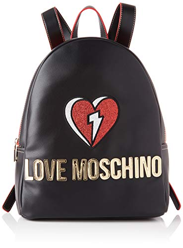 Love Moschino JC4255PP0BKJ0, Mochila para Mujer, Negro, Normale
