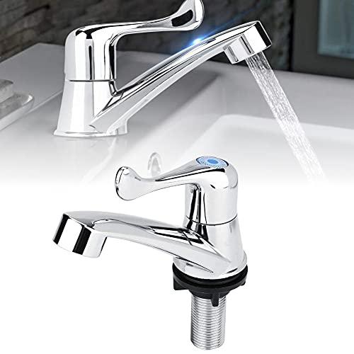 grifos lavabo solo agua fria,ABS de plástico individual fría del grifo de agua del grifo del fregadero cuarto de baño lavabo de la cocina Accesorios (cola G1 / 2)