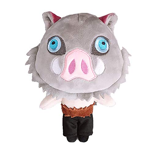 Demon Slayer Anime Charakter Plüschtier Puppe Kimetsu no Yaiba super süße weiche Puppe Baumwolle ausgestopfte Puppe Spielzeug Anime Fan extrem Sammlerstück Geschenk 8 Zoll (Hashibira Inosuke)