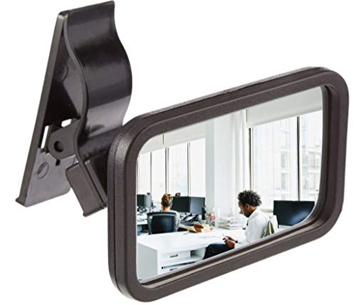 Clip-On Rear View Mirror for PC Monitors or Anywhere by Modtek (1 Pack)