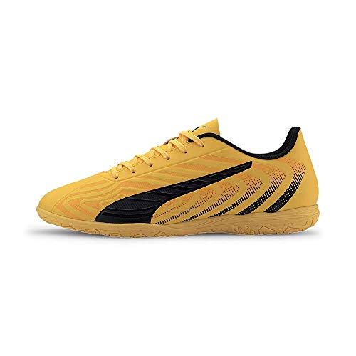 Puma Herren One 20.4 It Futsalschuhe, Ultra Yellow Schwarz-Orange Alarm, 43 EU