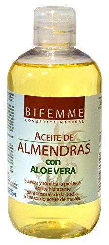 Bifemme Aceite de almendras con aloe vera - 250 ml