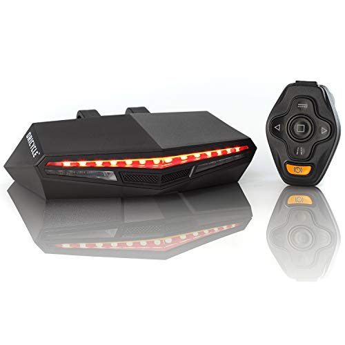 Oricycle C2 Rechargeable Bike Tail Light LED – Ultra Brightness, 30 Hours Battery Life, Remote Control, Turning Lights, Ground Virtual Lane, IPX4 Waterproof, Safety Warning Light