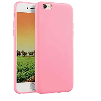 Compatible with iPhone 6 Plus and iPhone 6s Plus 5.5-Inch Case,Soft TPU Slim Thin Durable Anti-Scratch Shock-Absorption Resistant Shield Cell Mobile Phone Cover Case for Girls Women Man Boys,Pink