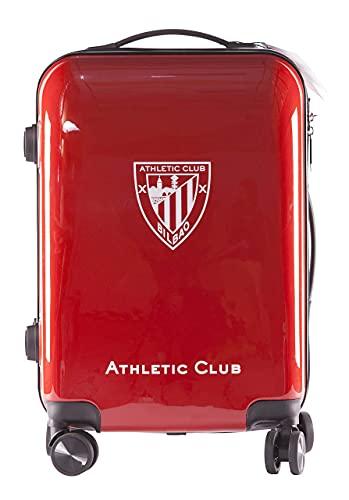 Athletic Club de Bilbao Maleta Equipaje de Mano - Producto Oficial del Equipo, Rígida y con Sistema de Cierre de Seguridad TSA. Facil traslado debido a su sistema de 8 ruedas giratorias.