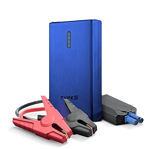 Type S 8000mAh Car Jump Start and Portable Power Bank - Blue