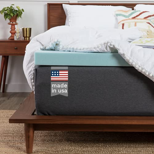 ViscoSoft Memory Foam Mattress Topper King - Made in USA 2 Inch Reflex Gel Mattress Pad