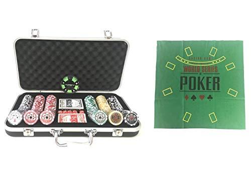 Pokerproductos Maletín 300 fichas High Roller con tapete de Regalo
