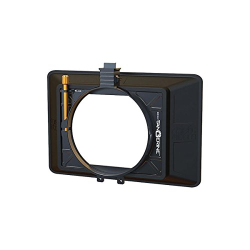 Bright Tangerine Misfit Atom 4x5.65 and 4x4 Ultra Lightweight 2-Stage Clip-On Matte Box with Detachable Lens Shade, 114mm Clamp Attachment