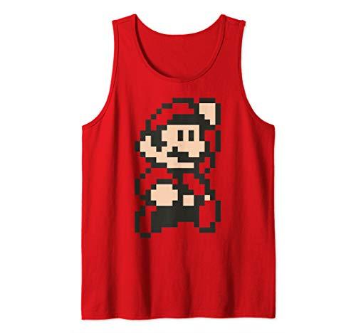 Super Mario Little Mario 8-Bit Portrait Tank Top