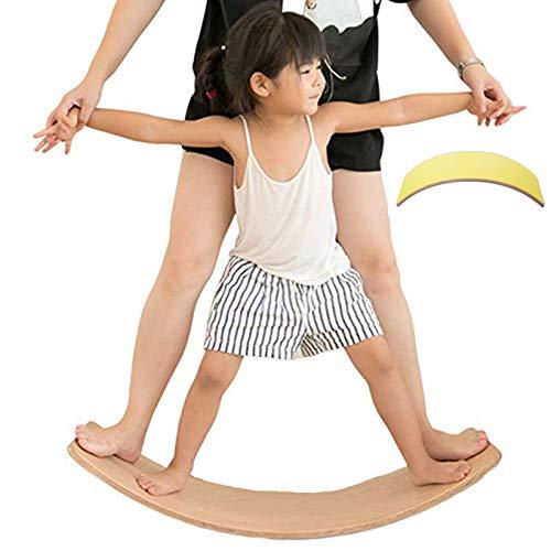 lxfy Wooden Balance Board - Lernspielzeug für die Entwicklung - Waldorf Kinderboard - Contribute Kid Entwickelt Lernspielzeug für die Entwicklung von Gleichgewicht, Muskel, Körper und Geist