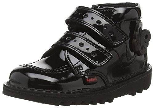 Kickers 114121, Botas Cortas Niñas, Negro (Black), 30 EU (talla del fabricante: 12 Child UK)