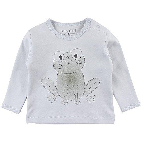Fixoni Grow LS Top T-Shirt Manches Longues, Bleu (03-43 Soft Blue 03-43), 9 Mois Bébé garçon