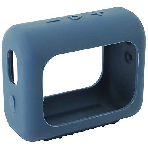 Hülle Ersatz für JBL GO 3 Bluetooth Speaker Headphone Wireless Lautsprecher Case Silicone Bluetooth Case zubehör Schutz Silikonhülle Abdeckung Protective Cover Schutzhülle (Dunkelgrau)
