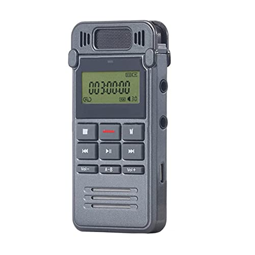 VDSOIUTYHFV Voice Recorder, Digital Recorder Voice Activated Recorder-Easy Recording of Lectures and Meetings with Noise Reduction Audio/Sound/Portable 8GB
