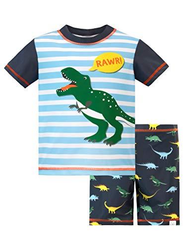 Harry Bear Costume da Bagno per Ragazzi a Due Pezzi Dinosauro Blu 18-24 Mesi