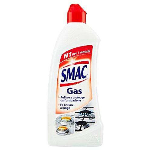 Smac Gas, Detergente per Piastre e Fornelli, Azione Pulente e Brillantezza, Protegge dall'Annerimento, 500 ml