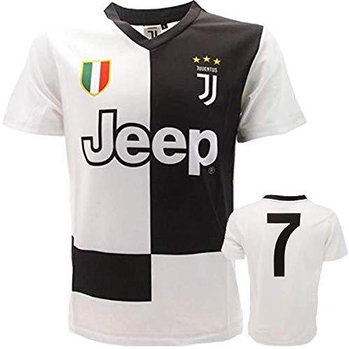 juve Camiseta de Fútbol n 7-2020 (Cristiano Ronaldo 7 CR7) Juventus F.C. Home Temporada Replica Oficial con Licencia - Todos Los Tamaños Niño (6 8 10 12 AÑOS) y Adulto (S M) S