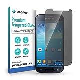 smartect Cristal Templado para Móvil Samsung Galaxy S4 mini [PRIVACIDAD] - Protector de pantalla 9H - Diseño ultrafino - Instalación sin burbujas - Anti-huella