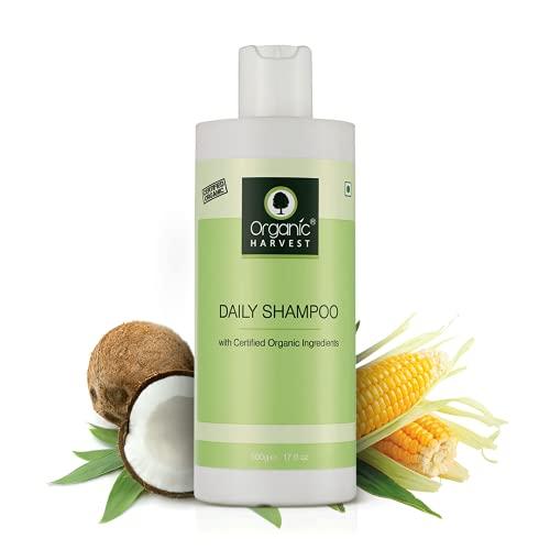 Organic Harvest Daily Shampoo For Men & Women Use | Hair Care, Improves Hair Texture, Best Organic Shampoo For Scalp Nourishment, Paraben & Sulphate Free - 500 ml