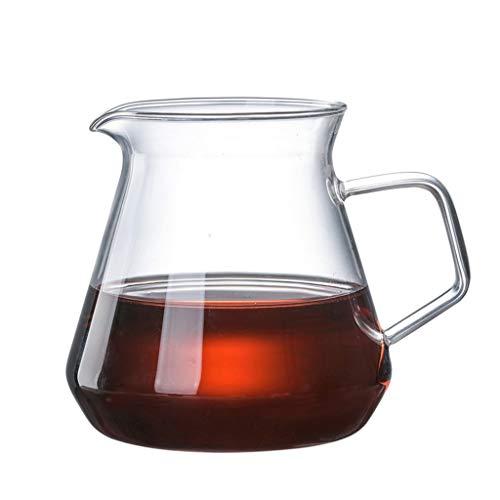 Jarra de agua de cristal con asa, jarra de té de cristal, jarra, tetera y jarra para café, zumo, agua helada y té de flores adecuado para tu nevera y cafetera (20 oz) (color: 400 ml)