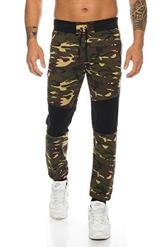 Raff&Taff Herren Sporthose Camouflage Hose Freizeithose Yogahose Sweathose Fußballhose Jogginghose (Woodland(5040, XXXL)