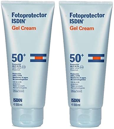 PACK 2 x ISDIN FOTOPROTECTOR GEL CREAM SPF 50 + 200ml TOTAL 400ml